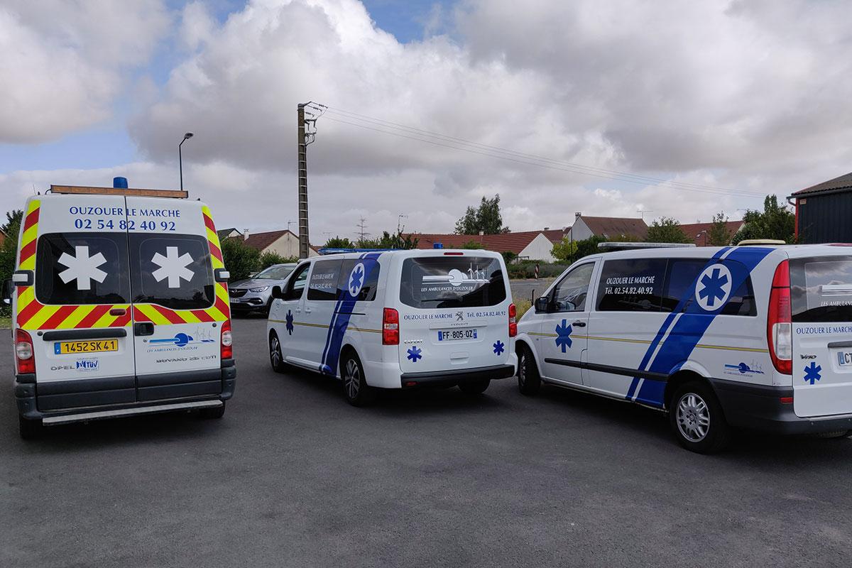 Les ambulances et taxis des Ambulances Rozat
