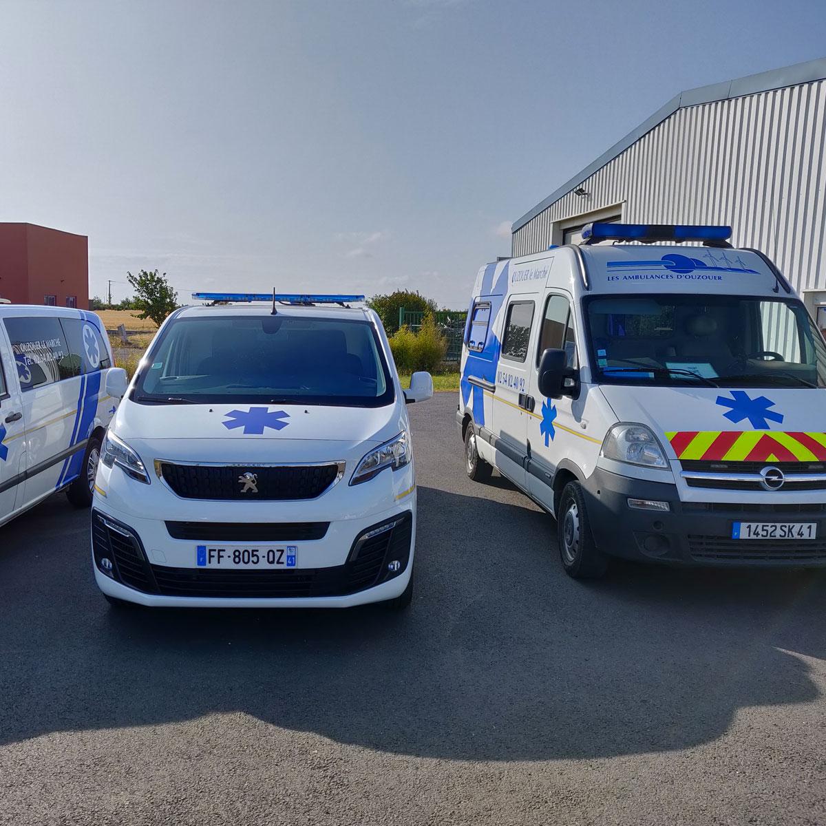 Les véhicules ambulances VSL des ambulances Rozat